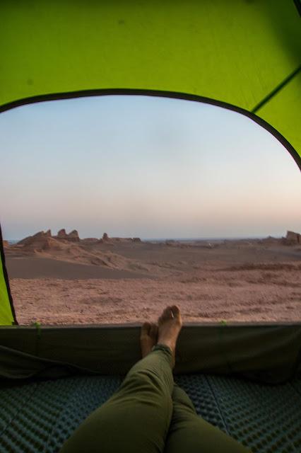 Iran, biwakownie w Iranie, namiot