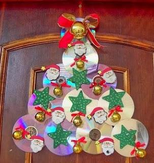 http://manualidadesnavidad.org/adorno-navideno-con-cds-reciclados/