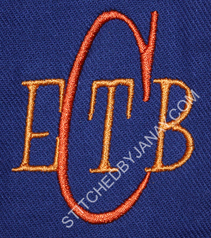 four letter monogram stitched by janay four letter monograms 21805