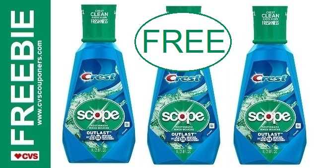 FREE Scope CVS Couponers Deal 4-19-4-25