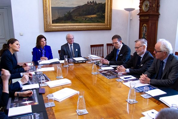 Queen Silvia, Crown Princess Victoria, Prince Daniel and Princess Sofia attended a meeting of Nobel Prizes 2018