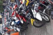 Satlantas Polres Jeneponto Berhasil Amankan 109 Motor dalam Razia Balapan Liar
