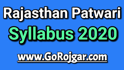 Rajasthan Patwari Syllabus 2020 | RSMSSB Rajasthan Patwari Syllabus & Exam Pattern 2020 In Hindi