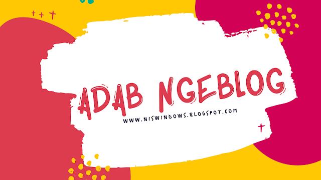 adab ngeblog