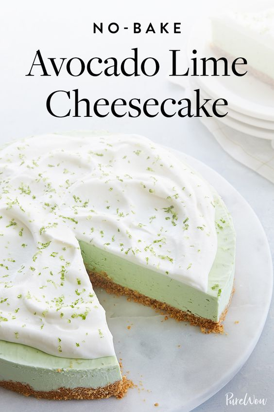 No-Bake Avocado Lime Cheesecake