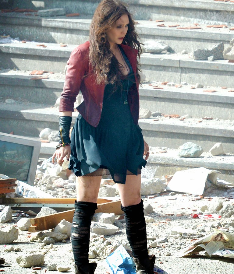 Elizabeth Olsen la filmările The Avengers 2: Age Of Ultron