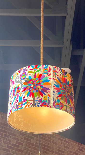colorful lampshade at barrio queen