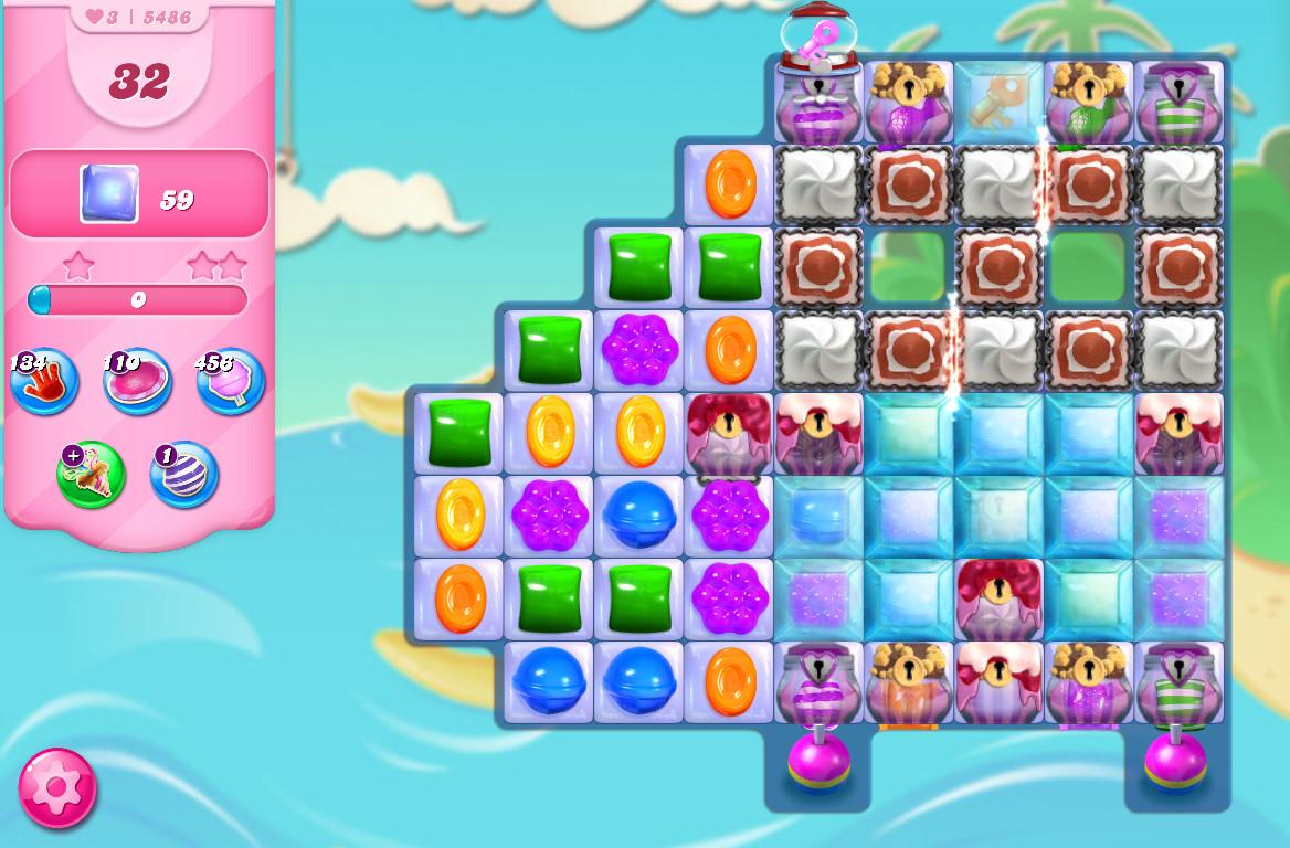 Candy Crush Saga level 5486
