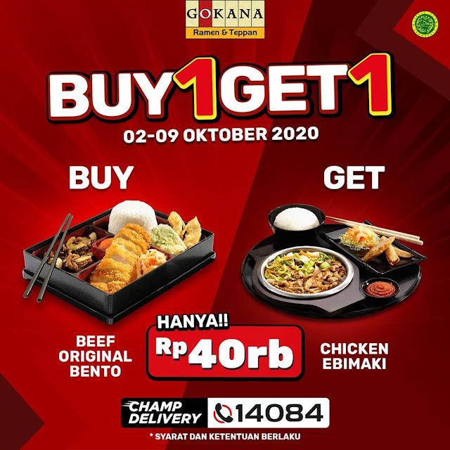 #Gokana - #Promo Buy 1 Get 1 Hanya 40 Ribu (s.d 09 Oktober 2020)