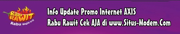 Inilah Promo Internet AXIS Murah di Hari Rabu dan Jumat [UPDATE 2017]