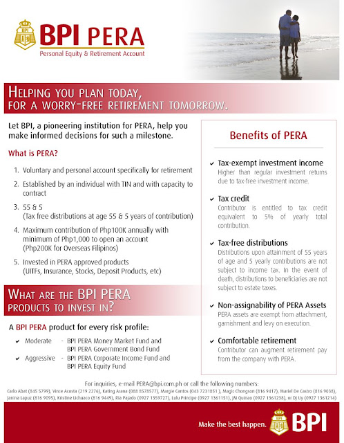 PERA or Personal Equity and Retirement Account Program