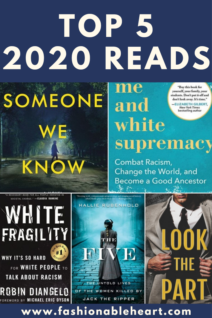 bblogger, bbloggers, bbloggersca, books blogger, books i read, top 2020 books, books i read, shari lapena, layla f. saad, robin diangelo, jewel e. ann, hallie rubenhold, jack the ripper, the five, someone we know, white fragility, me and white supremacy, look the part, book reviews