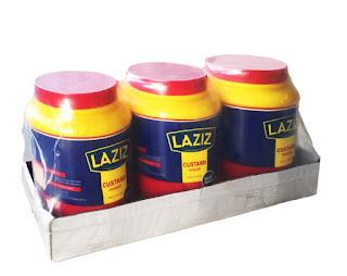 Laziz Vanilla Custard Please 2kg x 3 on a white background