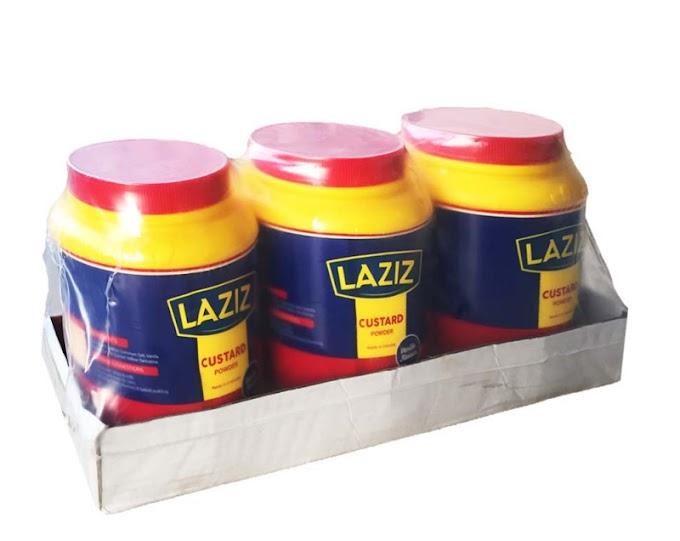 Laziz Vanilla Custard Powder Jar 2kg x 3