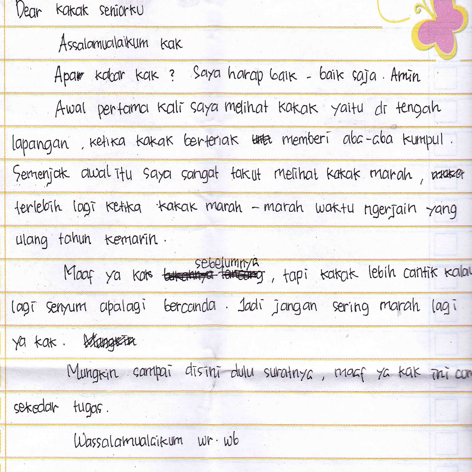 contoh surat ungkapan cinta dan benci kepada kakak osis