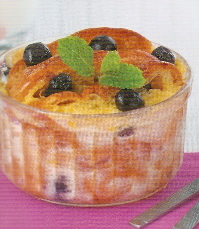 Croissant Blueberry Pudding
