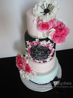 bolo casamento vintage
