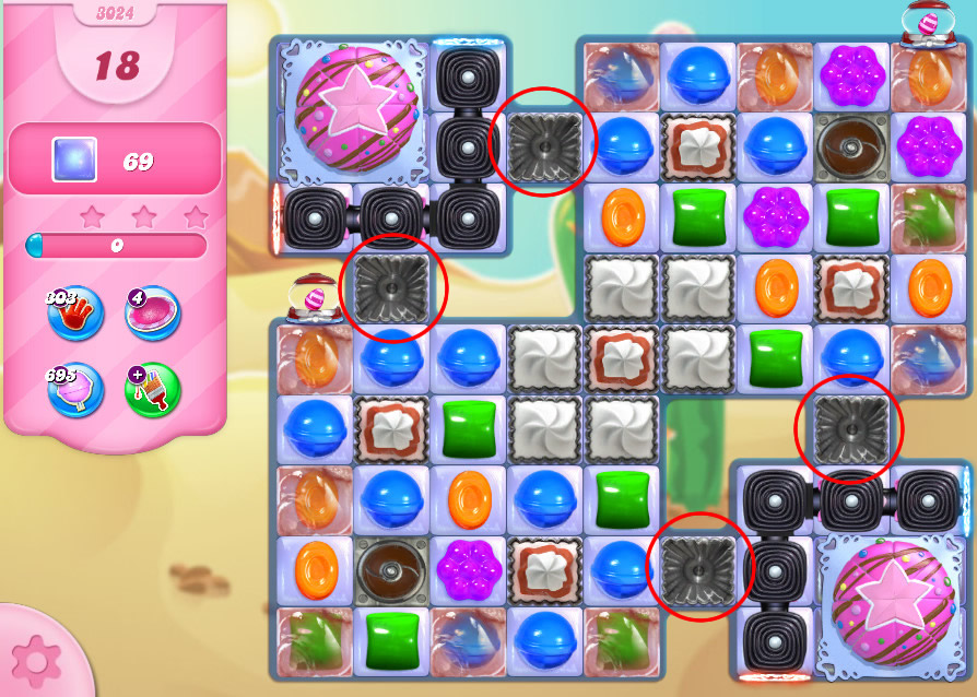 Candy Crush Saga level 3024
