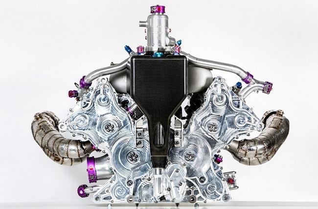 Động cơ đốt trong 4 xi-lanh tăng áp của Porsche 919