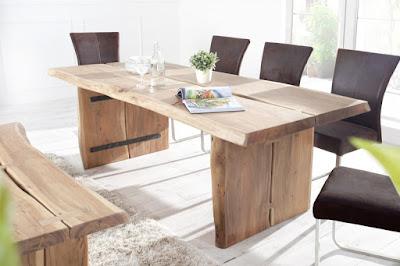 masivny nabytok stôl do kuchyne, jedalensky stôl z dreva