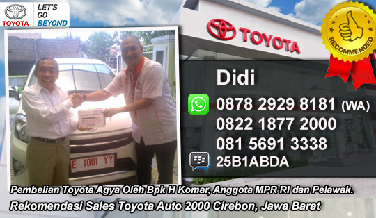 Rekomendasi Sales Toyota Cirebon 2016