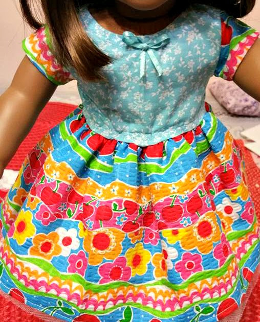 FRUIT AND FLOWERS DOLL DRESS