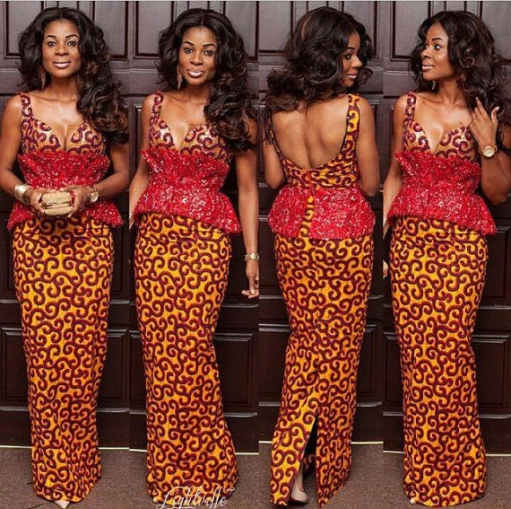 25 Beautiful African Print Maxi Dresses And Gowns For A Wedding Guest Ciaafrique African