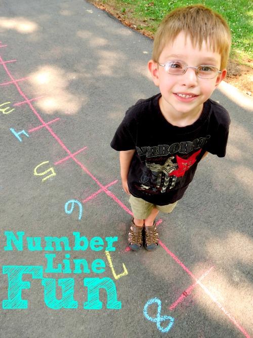Childhood Beckons: Number Line Fun