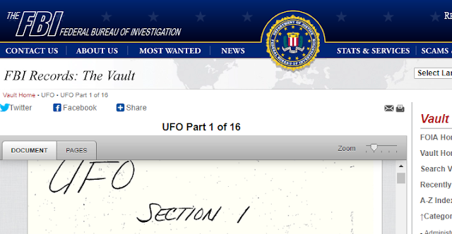 UFO documents on the FBI website are real.