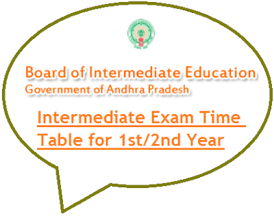 BIEAP Intermediate Time Table 2020