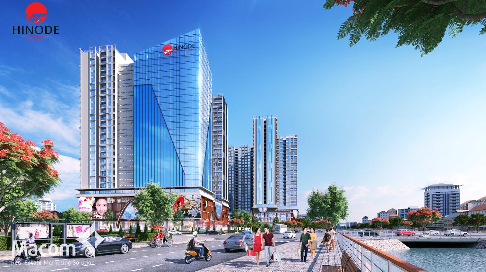 Phối cảnh của dự án chung cư Hinode City Minh Khai