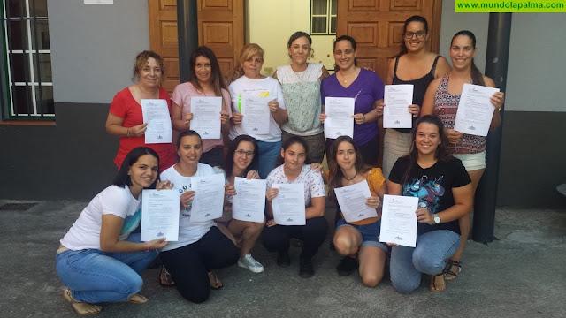 """Finaliza el curso """"Acogida temprana y primeros auxilios"""" en Tijarafe"""
