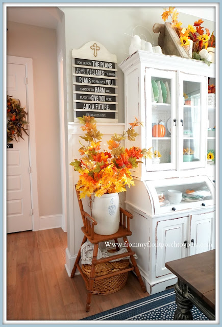 Farmhouse Cottage Style Fall Dining Room-Hymnal Board-From My Front Porch To Yours