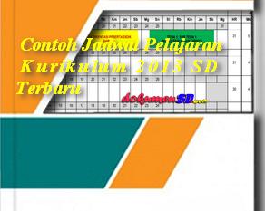Contoh Jadwal Pelajaran Kurikulum 2013 SD Terbaru
