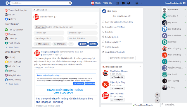 Shase Theme Facebook Parody Responsive for Blogger by Trần Hà