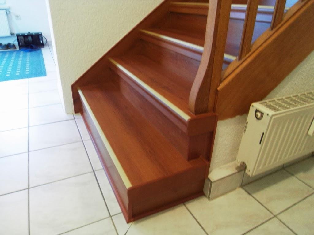 Treppenrenovierung - Seitenkappe am Antritt