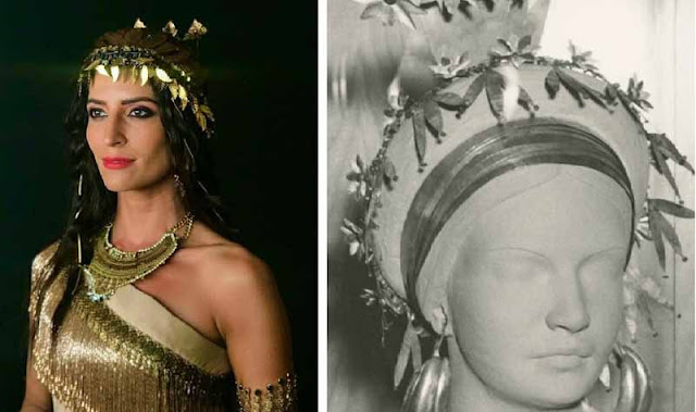 Enlila (Maria Joana) e jóias em museu