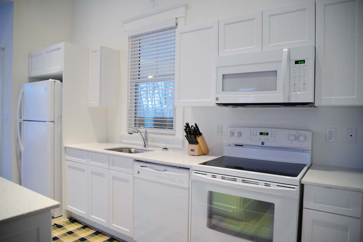 white beadboard cottage kitchen