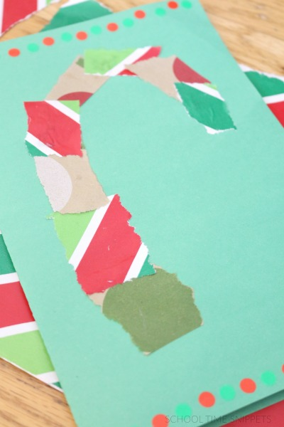 Christmas Cards for Kids to Make with wrapping paper