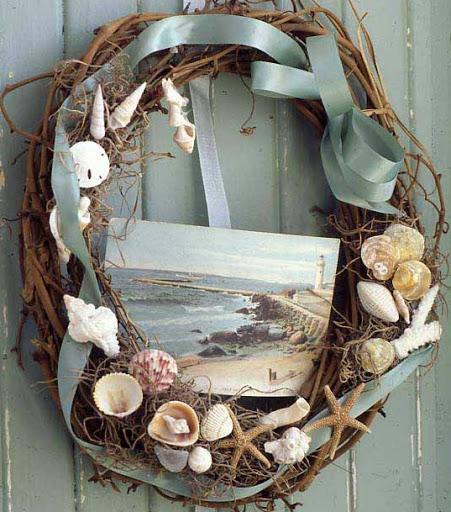 Seashell Wreath Ideas