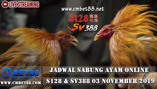 Jadwal Pertandingan Sabung Ayam Online 03 November 2019