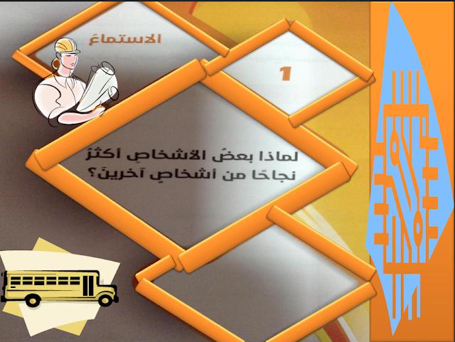 حل درس لماذا بعض الأشخاص أكثر نجاحا من أشخاص آخرين للصف التاسع اللغه العربيه