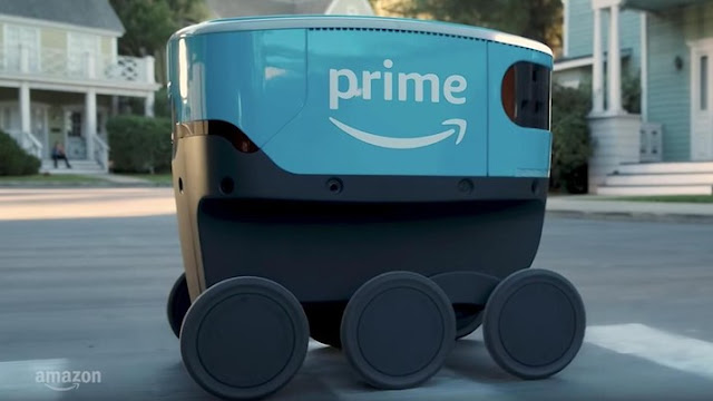 Robot kurir Scout dari Amazon.