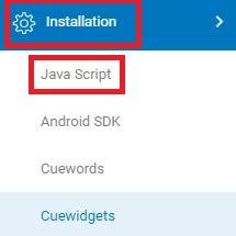 Java Script, Cuelinks installation, Transactions