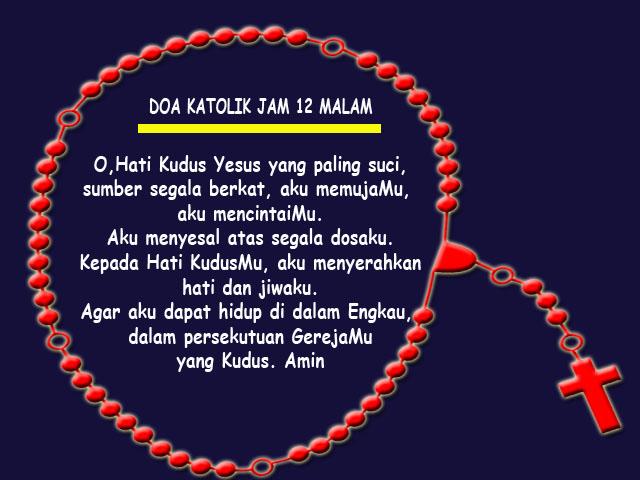 doa malam katolik