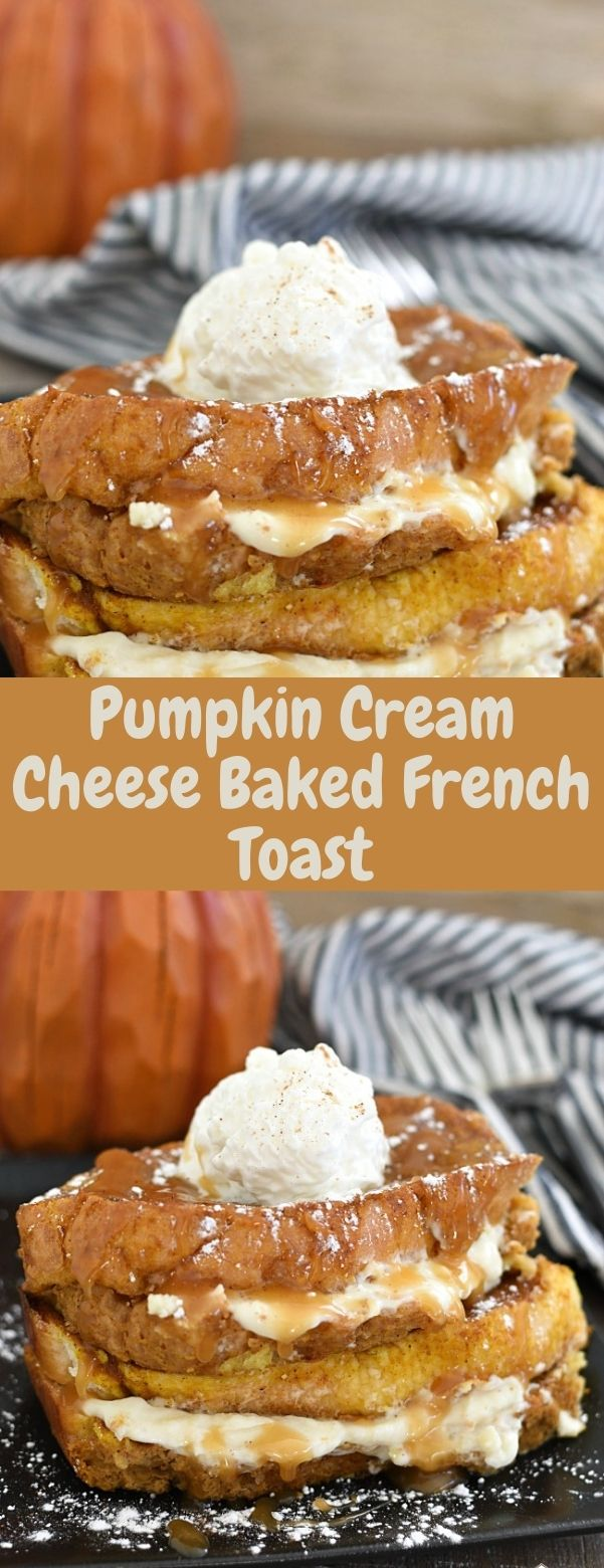 Pumpkin Cream Cheese Baked French Toast