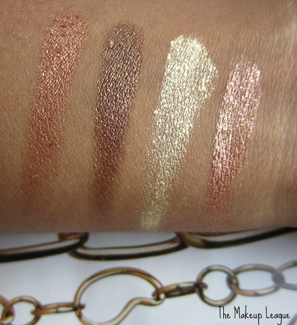 Milani Fierce Foil Eyeshine Florence swatches review