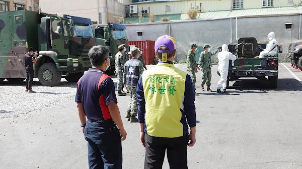 國軍36化學兵群協助抗疫 彰化市展開2天大消毒
