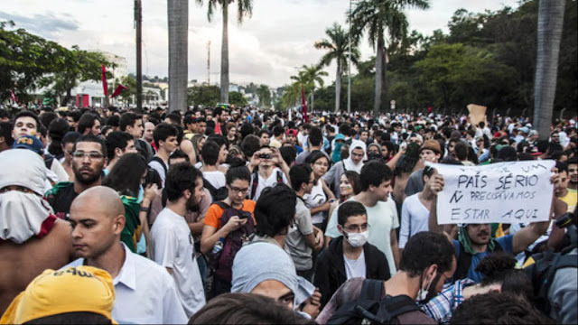 Multidão de golpistas em Belo Horizonte,17 de junho de 2013