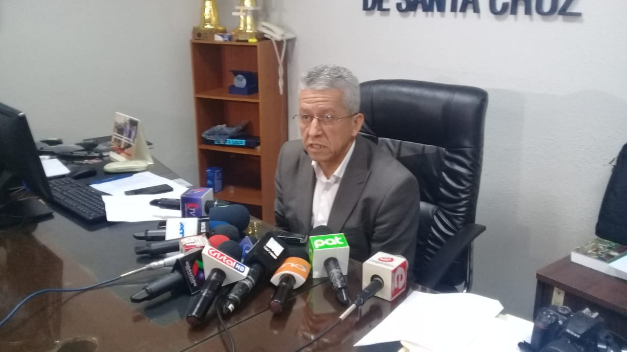 El fiscal departamental Salguero en conferencia de prensa / UNICOM FISCALÍA